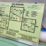 План эвакуации на основе ПВХ, фотолюминесцентная пленка, ламинат